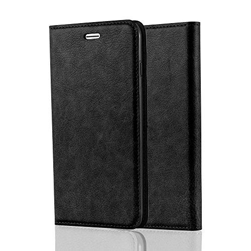 Cadorabo Hülle für Apple iPhone 8 Plus / 7 Plus / 7S Plus - Hülle in ANTHRAZIT SCHWARZ – Handyhülle mit Magnet, Standfunktion und Kartenfach - Case Cover Schutzhülle Etui Tasche Book Klapp Style