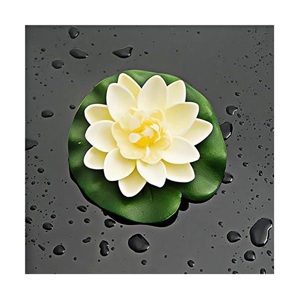 WopenJucy 8 piezas de espuma de agua lirio flor decoración artificial flotante estanque plantas falsas Lotus Multi Color