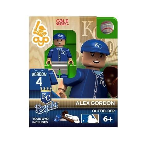 OYO Sportstoys MLB Alex Gordon Kansas City Royals Minifigur (Kansas City Royals Miniatur)