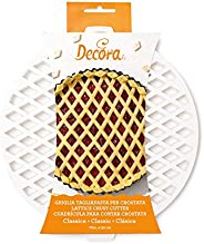 Decora Griglia Tagliapasta per Crostata Classica, Bianco, Dim. ø 30 cm