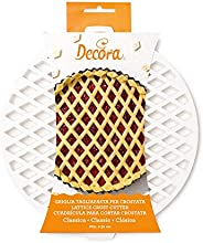 Decora Griglia Tagliapasta per Crostata Classica, Acciaio, Bianco, Dim. ø 30 cm
