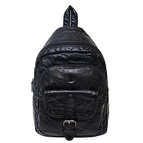 Y&F Schultergewebe Handtaschen Sport-Mehrzweck-WäSche-Brusttasche Schultertasche Schwarz 7 * 23 * 31 Cm B