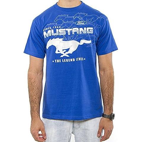 Ford Mustang Classic Logo Camiseta de manga corta para hombre