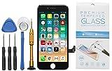 GIKEB Ersatzdisplay für iPhone 7 in schwarz | funktioniert mit iOS 12 | komplettes LCD Retina Glas | Reparatur | mit Schutzfolie & Werkzeug | Deutscher Händler | 3D Touch | hohe Qualität
