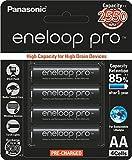 #2: Panasonic Eneloop Pro upto 2550mAh 4xAA Rechargeable Ni-MH Battery BK-3HCCE/4BN