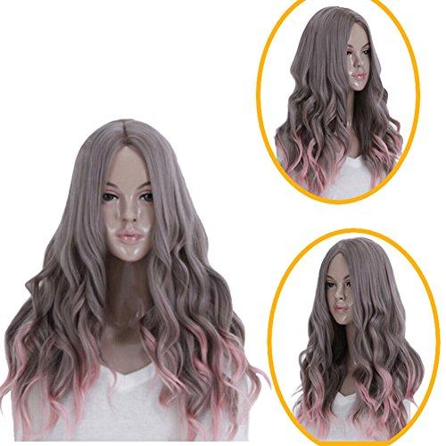 Urparcel Cheveux longue Perruque frisé ondule synthétique Perruque Naturel pour femme Vie quotidienne 358