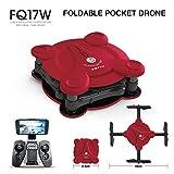 FQ777 FQ17W 6-Axe Gyro Mini Wifi Première Personne Vue Pliable G-Capteur Pocket Drone Avec 0.3MP Caméra Altitude Tenir RC Quad-Copter,Red