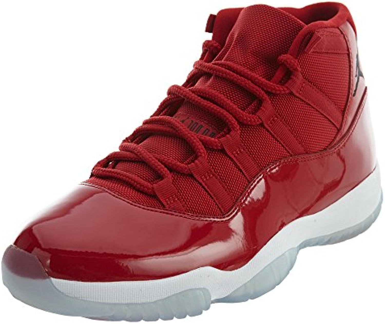 Nike Zapatillas Air Jordan XI Retro Win Like Like 96 EN Piel Brillante Rojo 378037-623