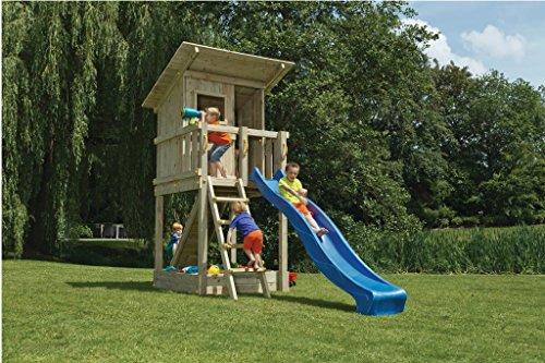 Spielturm Beach Hut - Blue Rabbit 2.0 - Podesthöhe 150cm mit Rutsche 300 cm Pfosten 9x9cm