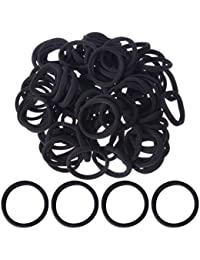 Mudder Hair Bands Seamless Hair Elastics Hair Ties Hair Ropes Ponytail Holders For Girls And Women, Black, 8 Mm...