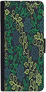 Snoogg A Seamless Leaf Pattern Designer Protective Flip Case Cover For Sony X...