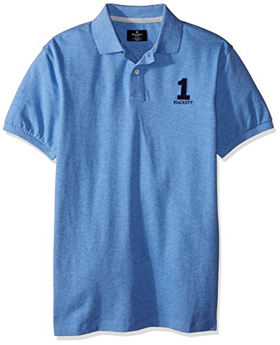 HACKETT LONDON Herren Poloshirt New Classic Mittelblau