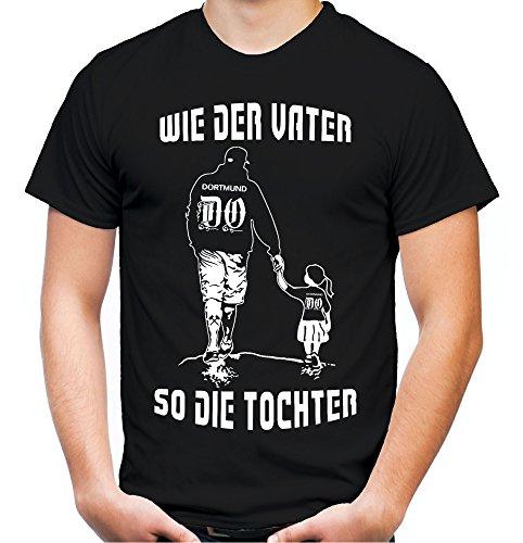 - wie der Vater So Die Tochter Männer und Herren T-Shirt | Fussball Sport Papa Vatertag | Dortmund (Schwarz, XXXL)