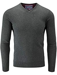 795f0b46de8814 Charles Wilson Men s Fine Knit Cotton V-Neck Jumper