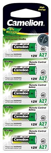 Camelion 11050527 Plus Alkaline Batterien ohne Quecksilber LR27/A/12 Volt, 5er