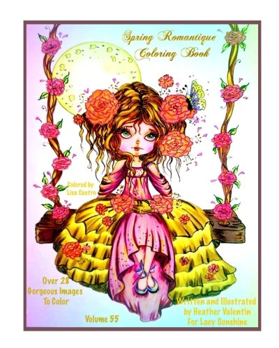 Read Portable Document Format Spring Romantique Coloring Book Elegant Romantic Ladies Flowers Peacocks Swans Lacy Sunshine Adult Volume