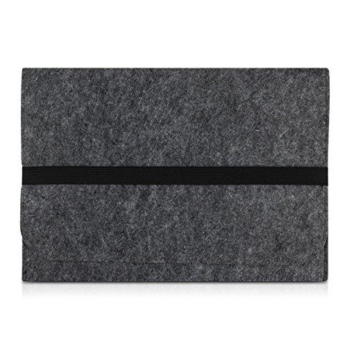 """kwmobile borsa per laptop custodia di feltro per 15"""" 15,6"""" Laptop / Ultrabook - cover protettiva custodia per laptop case in grigio scuro con tasca interne Dimensioni interiori: approssimative 41,5 x 31 cm"""