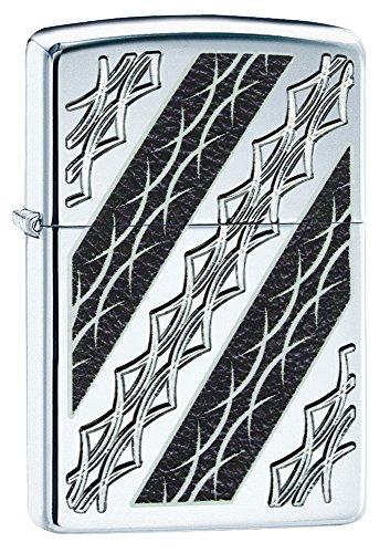 Zippo Unisex Armor Tattoo Eleganz winddicht Feuerzeug, hochglanzpoliert, Chrom