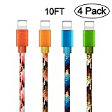 iPhone Charger Cable, Yilan 4 Pack 10Ft ...