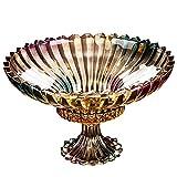 ZSQAI Dekorative Kristallschalen-Herzstück-Fruchtnahrungsmittelschüssel , Elegante quadratische Schüssel aus Kristallglas for Zuhause, Büro, Dekor, Obst oder Wüste