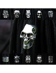 UltiFit (TM) 100pec / lot llavero anillo de la hebilla de cadena de bricolaje accesorios paracord al aire libre colgante de perlas pirata cr¨¢neo del metal que acampa