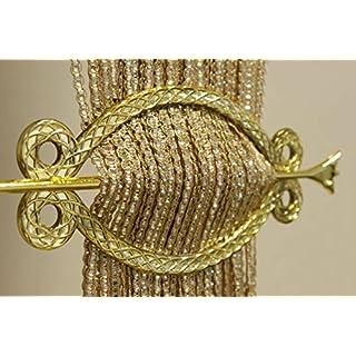 AeMBe - Fadenvorhang Fadengardine Türvorhang - 100cm X 200cm - Beige / Silver (breiten) - Höchste Qualität