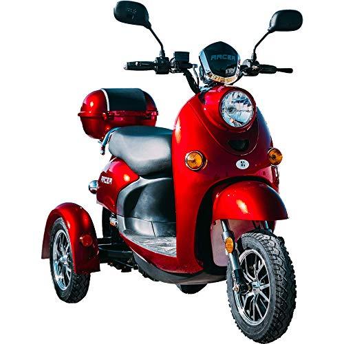 NEU 3 Rad ElektroRoller, Elektromobil, E-Mobil, Seniorenfahrzeug, Elektroroller Erwachsene E-Dreirad 25km/h, ZT-63, 3 Farben (WEISS)