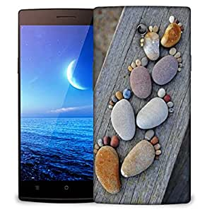 Snoogg Pebble steps Designer Protective Back Case Cover For Oppo Find 7