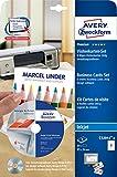 Avery Zweckform C32041-8 Visitenkarten-Set (64 Stück, 85 x 54 mm, beidseitig bedruckbar, matt) 8 Blatt mit Gestaltungssoftware