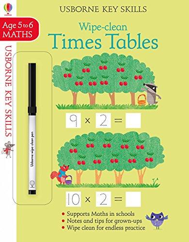 Wipe-Clean Times Tables 5-6 (Key Skills)