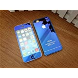 GTC premium Mirror Front + Back Tempered Glass Screen Protector for iPhone 6 Plus - Blue