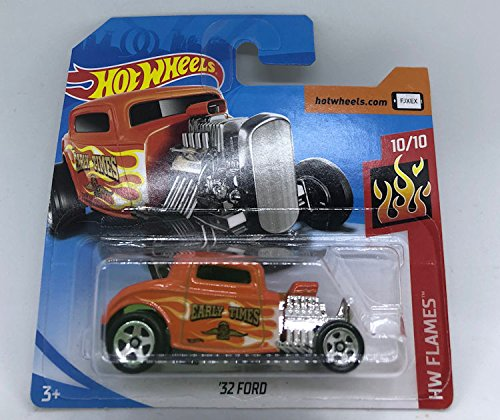 Hot Wheels 2018 '32 Ford Orange 10/10 HW Flames 129/365 (Short Card)