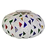 #6: Homesake Persian Mosaic Melon Votive Small, Glass Candle Holder Stand with Free Candle