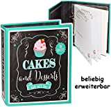 alles-meine.de GmbH Kochbuch & Backbuch - Ordner / Ringbuch / Sammelordner -  Cakes & Desserts  __ Süßigkeiten & Nachspeisen - 25 Seiten - ERWEITERBAR - Rezeptbuch zum selbersc..