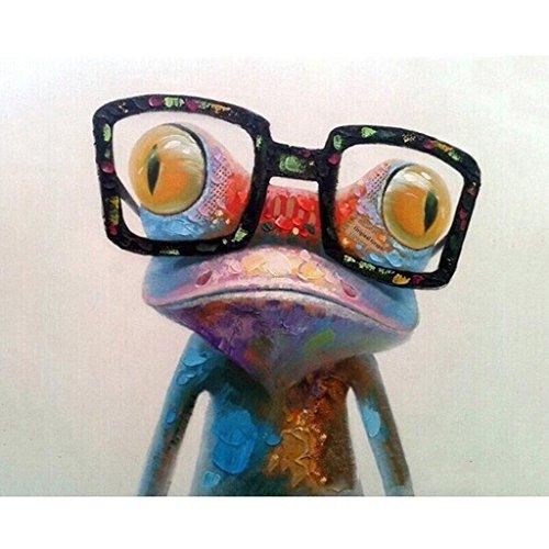 rawuin mit Frosch malen nach Zahlen, Acryl-Weingläser (# 373), auf Leinwand,