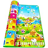 ZOSOE Double Sided Water Proof Baby Mat Carpet Baby Crawl Play Mat Kids Infant Crawling Play Mat Carpet Baby Gym Water Resistant Baby Play & Crawl Mat(Large Size - 5 Feet X 6 Feet)