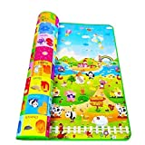 Weltime Double Sided Water Proof Baby Mat Carpet Baby Crawl Play Mat Kids
