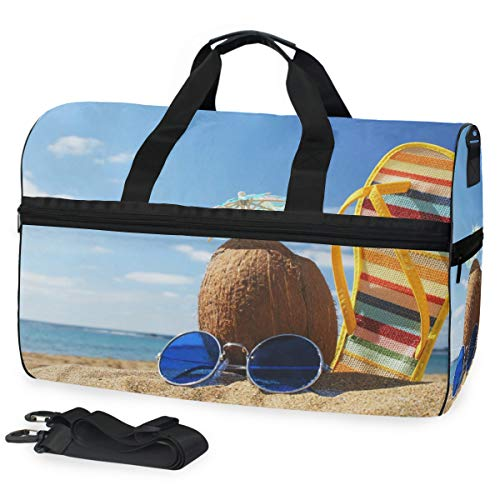FANTAZIO Strandbilder, Sporttasche, tragbar, leicht, wasserabweisend, reißfest