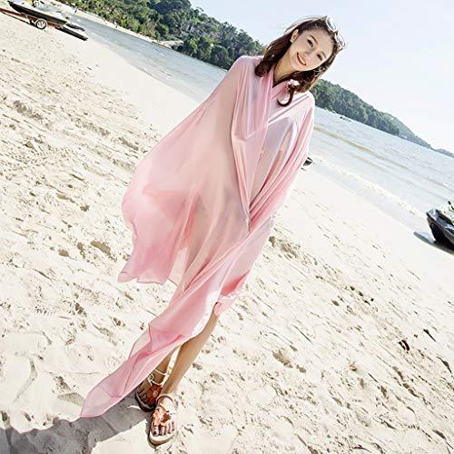 Schals Für Damen Sonnenschutz Strand Sommer Einfarbig Multifunktion Mode Reise Stolen Für Damen (15 Farben Sind Optional)