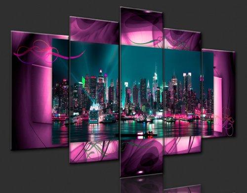 Bilder 200×100 cm – XXL Format – Fertig Aufgespannt – TOP – Vlies Leinwand – 5 Teilig – Wand Bild – Kunstdruck – Wandbild – Kunst Abstrakt 051477 200×100 cm B&D XXL - 6