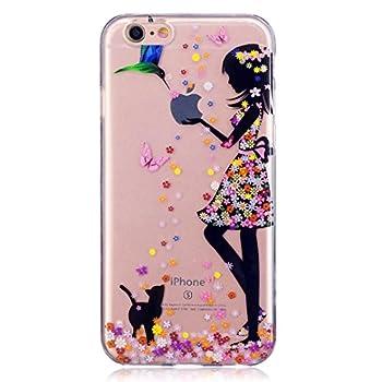 Iphone 7 Hülle Silikon Mädchen Transparenter Ultra Dünner Tpu Weicher Handy Hülle Dechyi Kunstmalerei Serie Handyhülle Iphone 7 Mädchen 1