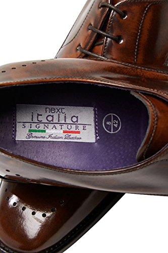 next Uomo Scarpe Derby Signature Con Punta Traforata Vestibilità Regular Tan