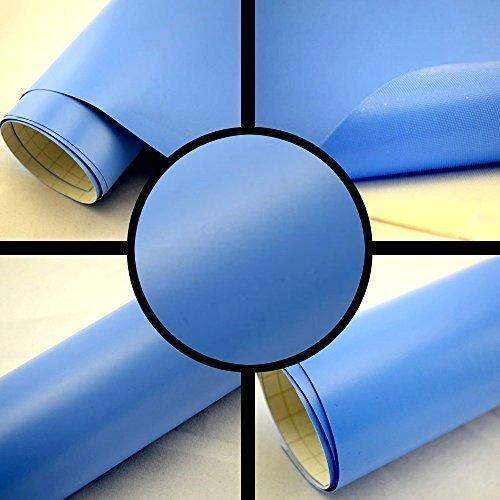 TipTopCarbon 6,57€/m² Autofolie Matt Hellblau 30m x 1,52m Auto Folie BLASENFREI mit Luftkanälen 3D Flex