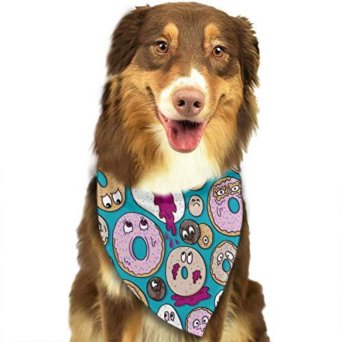 Osmykqe Dog Bandanas Funny Donut Pattern Dog Collar Neckerchief Pet Bandana Puppy Towel (Dog Name Tag-camo)