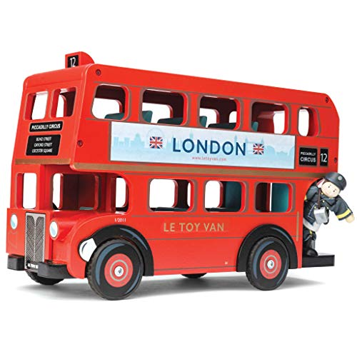Le Toy Van - TV469 - Figurine - Le Bus de Londres et son Conducteur