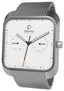 Reloj Obaku Harmony de cuarzo unisex con correa de acero inoxidable, color plateado de Obaku Harmony