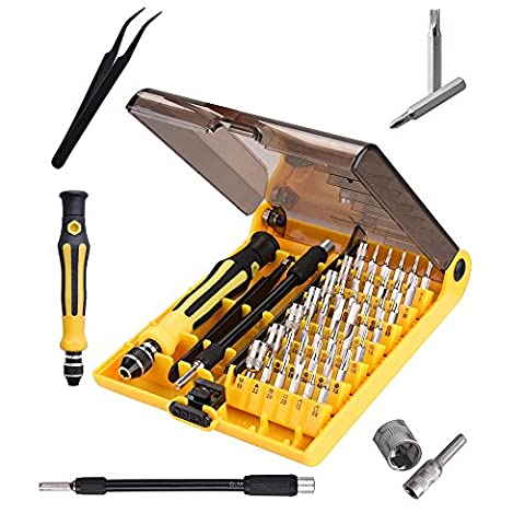 ReaseJoy 45 in 1 Portable Precision Screwdriver Set Flexible Torx Repair Tool Kit for Mobile Phone Laptop Pad
