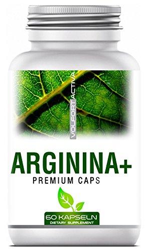 VOLFORT ARGININA+ 60 Premium Caps - L-Arginin - L-Citrullin - L-Ornithin - Vitamin B6 & Magnesium - Deutsche Premium Qualität