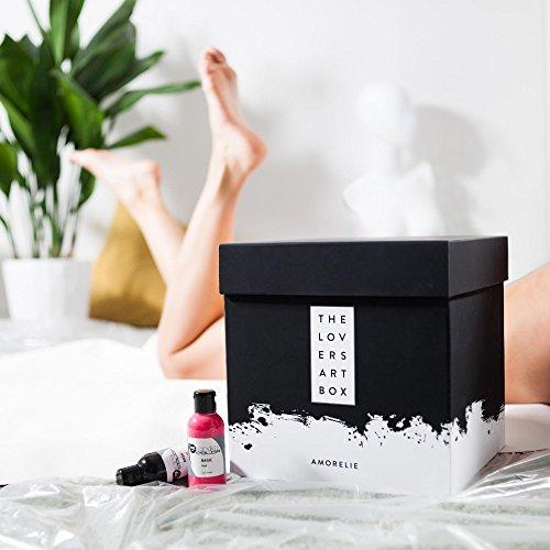 Geschenkbox für Paare Liebesspiel Erotische LoversArt Box Schwarz AMORELIE