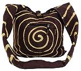 Sadhu Bag `Spirale` - braun / Sadhubag, Hippie Beutel